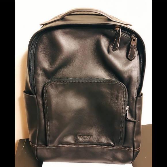 6be7056803b Coach Bags   Nwt Black Leather Graham Backpack   Poshmark